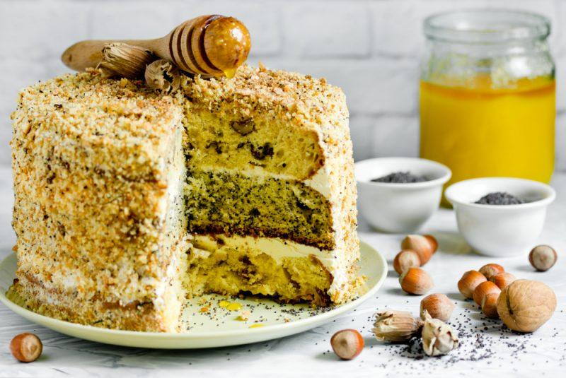 Рецепт вкусного торта Генерал с кремом англез