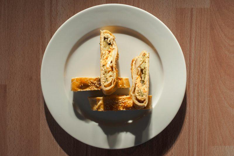 Косичка с сыром и брокколи