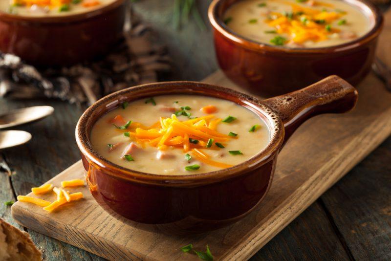 Чеддер-суп с цветной капустой