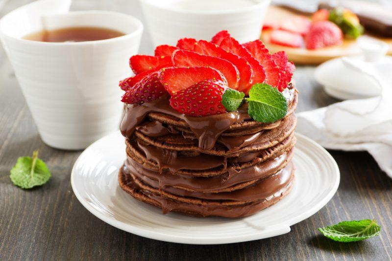 Шоколадные американские блинчики панкейки: рецепт с какао