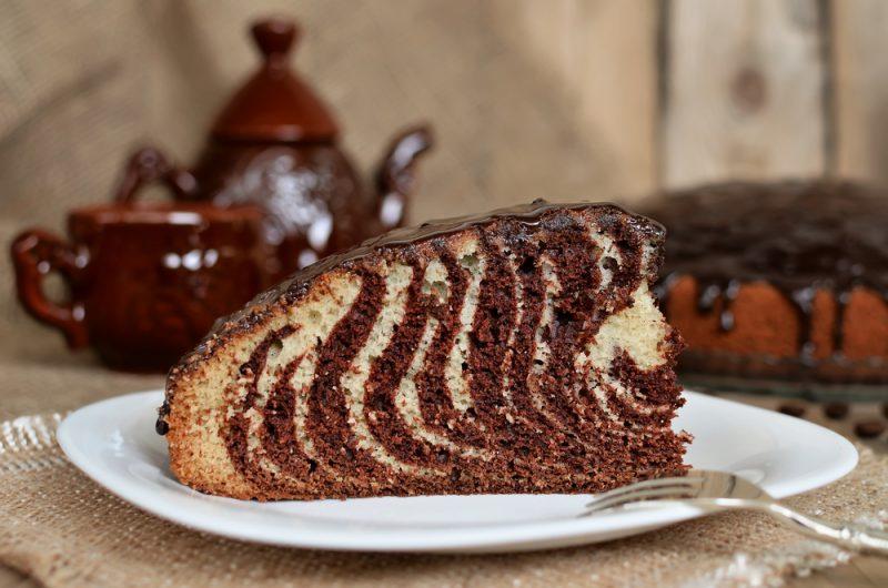 Торт зебра на сметане: пошаговые рецепты
