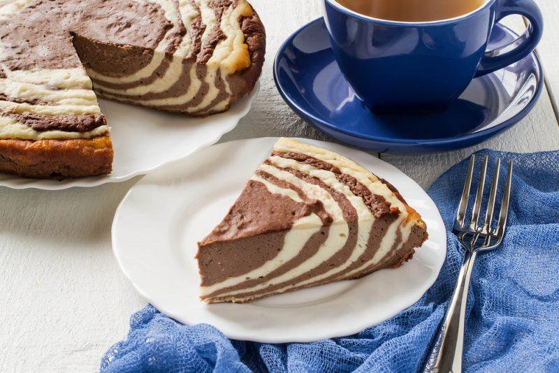 Пирог зебра: рецепт с творожным наполнением