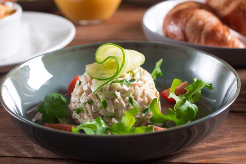 Быстрый ветчинный салат