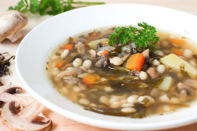 Постный суп с фасолью: рецепт с фото пошагово