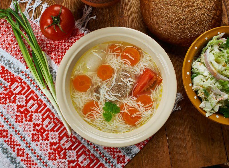 Пошаговый рецепт куриного супа с вермишелью