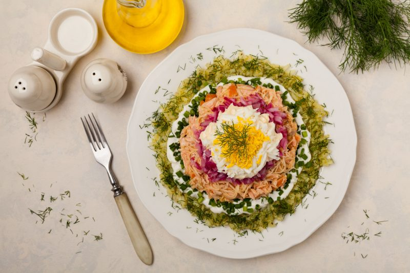 """Рецепты приготовления салата """"Мимоза"""""""