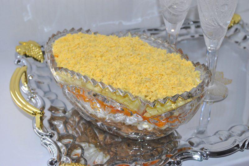 Диетическая версия салата Мимоза