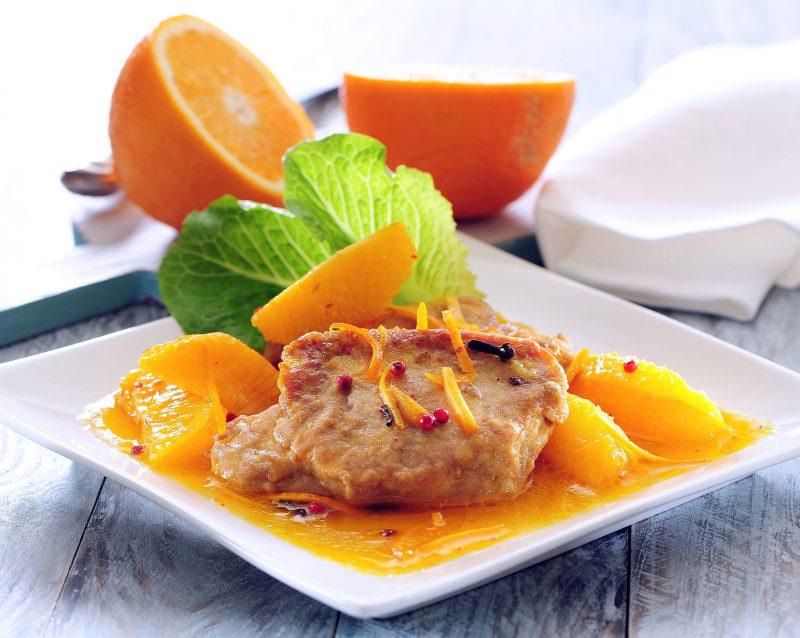 Свинина с цитрусовым послевкусием