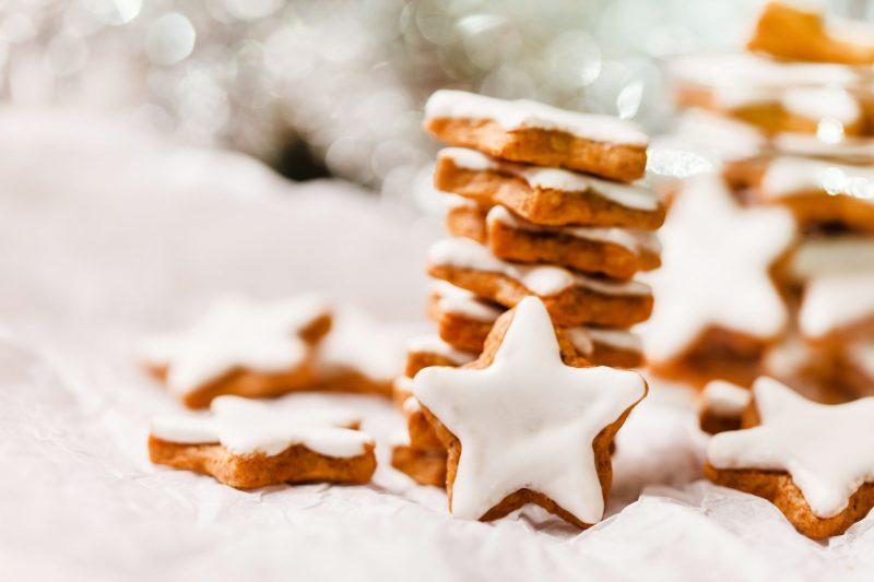 Рождественское сахарное печенье с глазурью