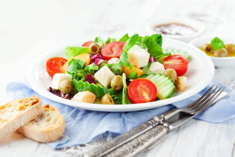 Овощи с сыром фета