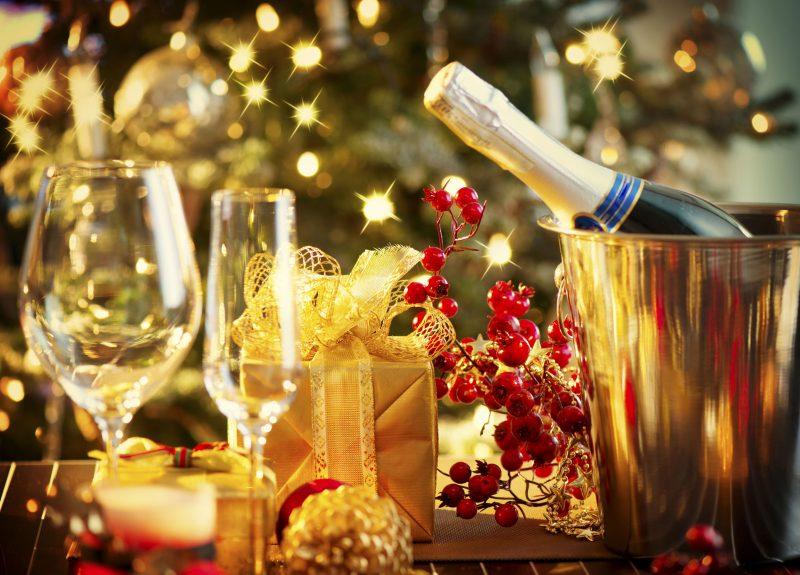 Новогоднее шампанское с грейпфрутом