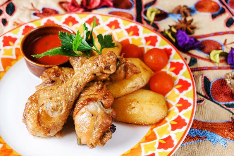 Рецепт крыльев индейки с картошкой в духовке