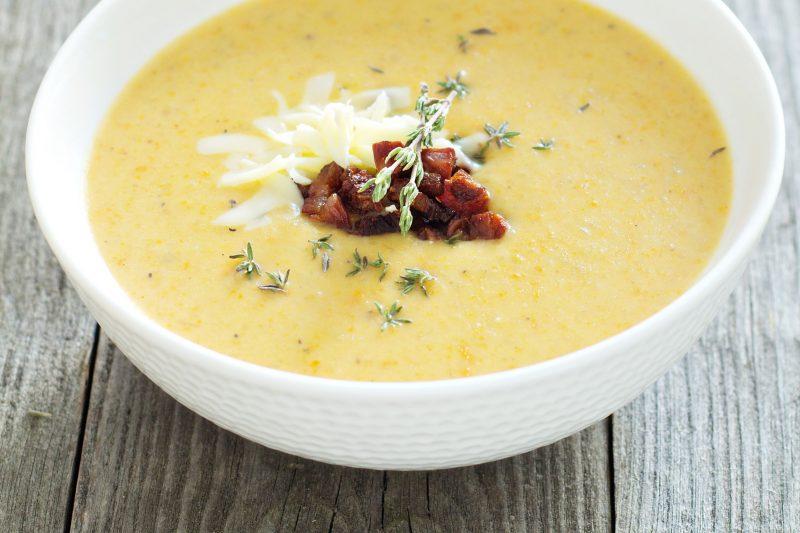 Рецепт сырного супа с лапшой и брокколи
