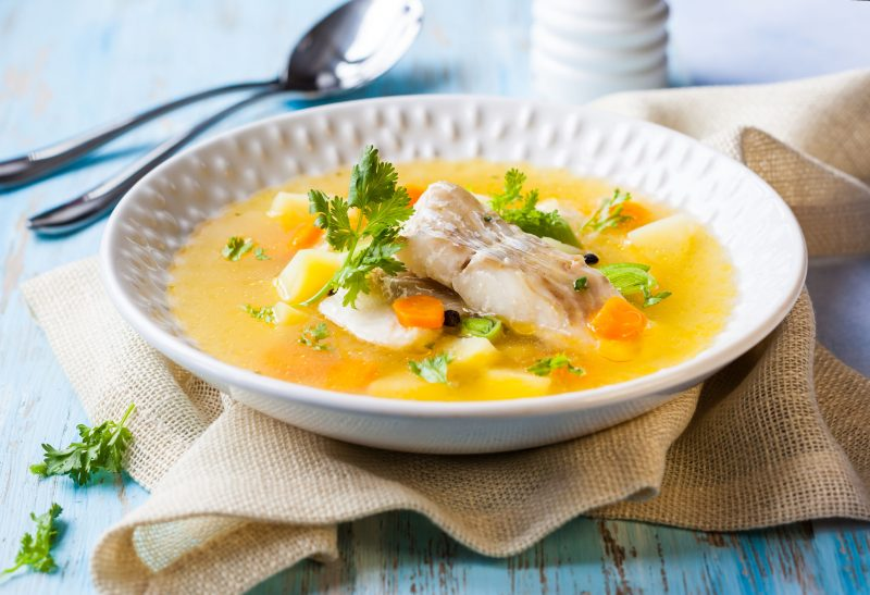 Рыбный легкий суп