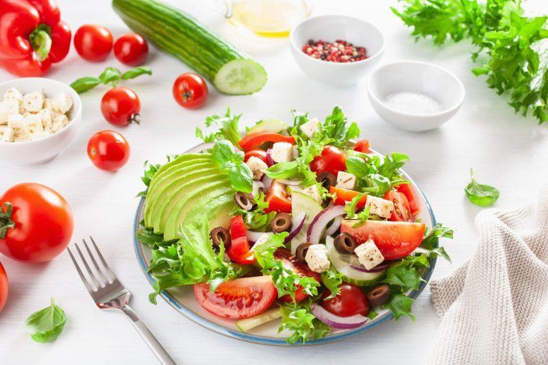 Вкусный греческий салат рецепт с авокадо