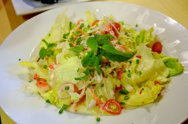 Салат с пикантной заправкой