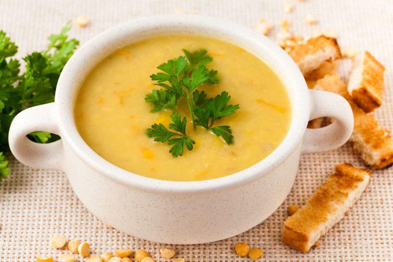 Вкусный гороховый суп со сливками