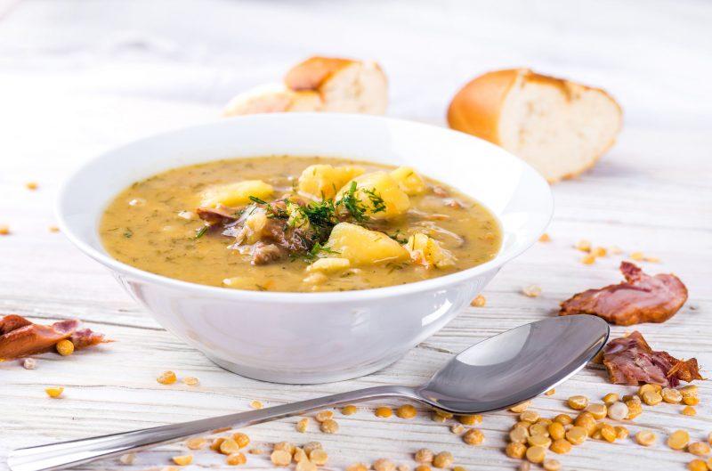 Гороховый суп: рецепт классический из копченых ребрышек