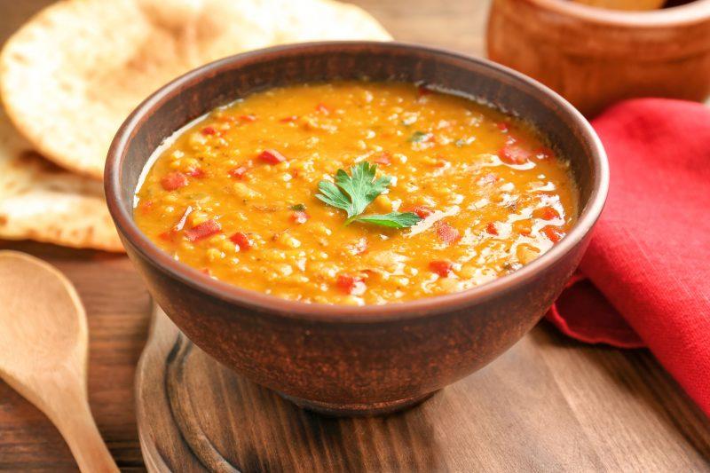 Суп с фасолью, рисом и фаршем