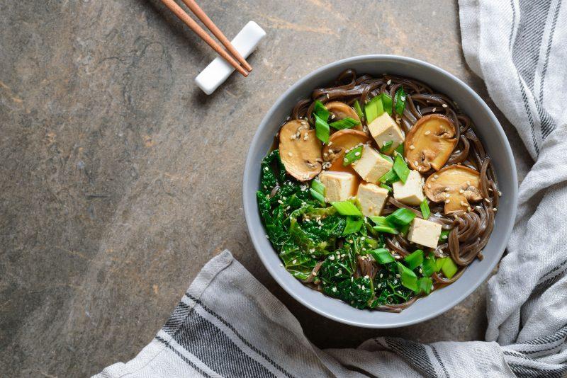 Крем-суп мисо с грибами