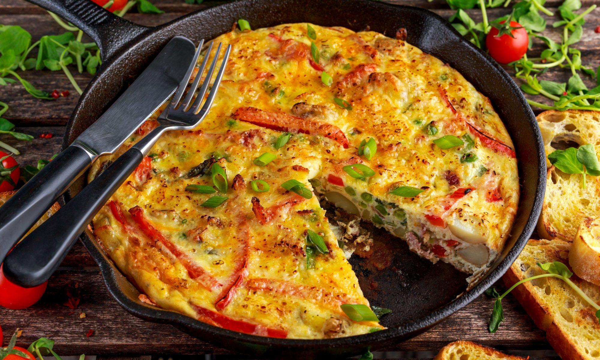 Омлет: рецепт на сковороде