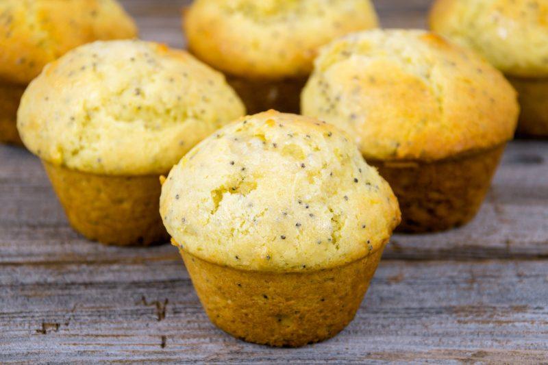 Лимонно-маковые кексы
