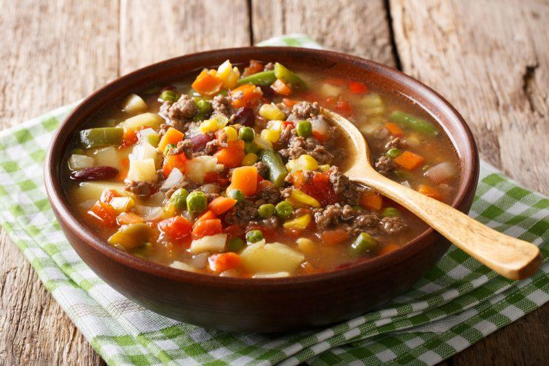 Рагу из фасоли и овощей
