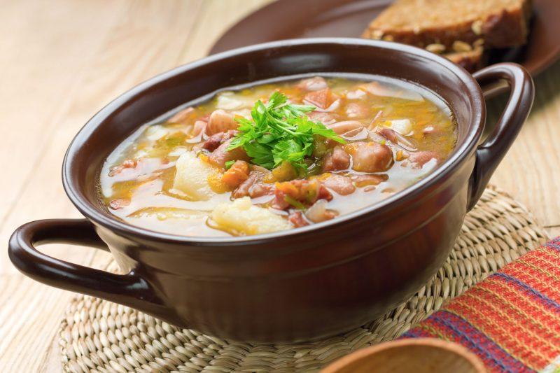 Постный суп из фасоли «По-итальянски»