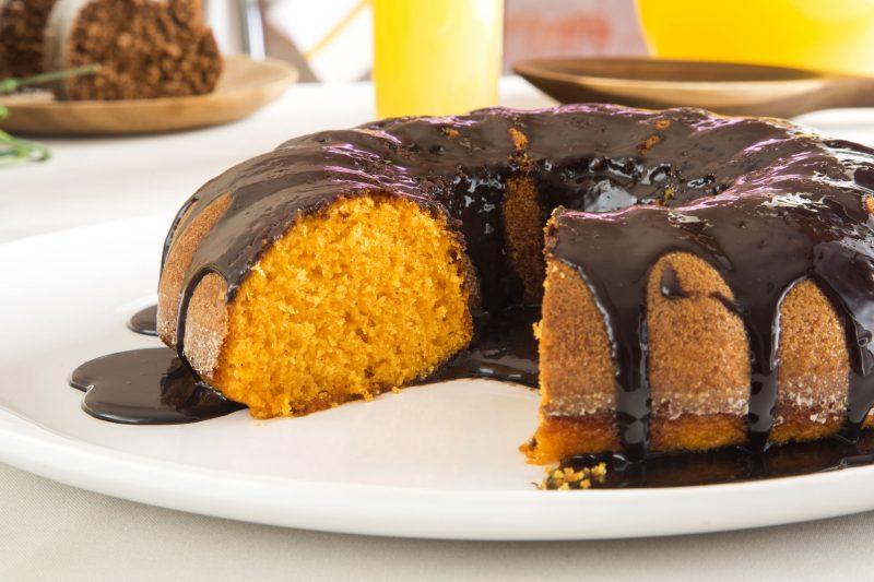 Постный морковный пирог (манник)