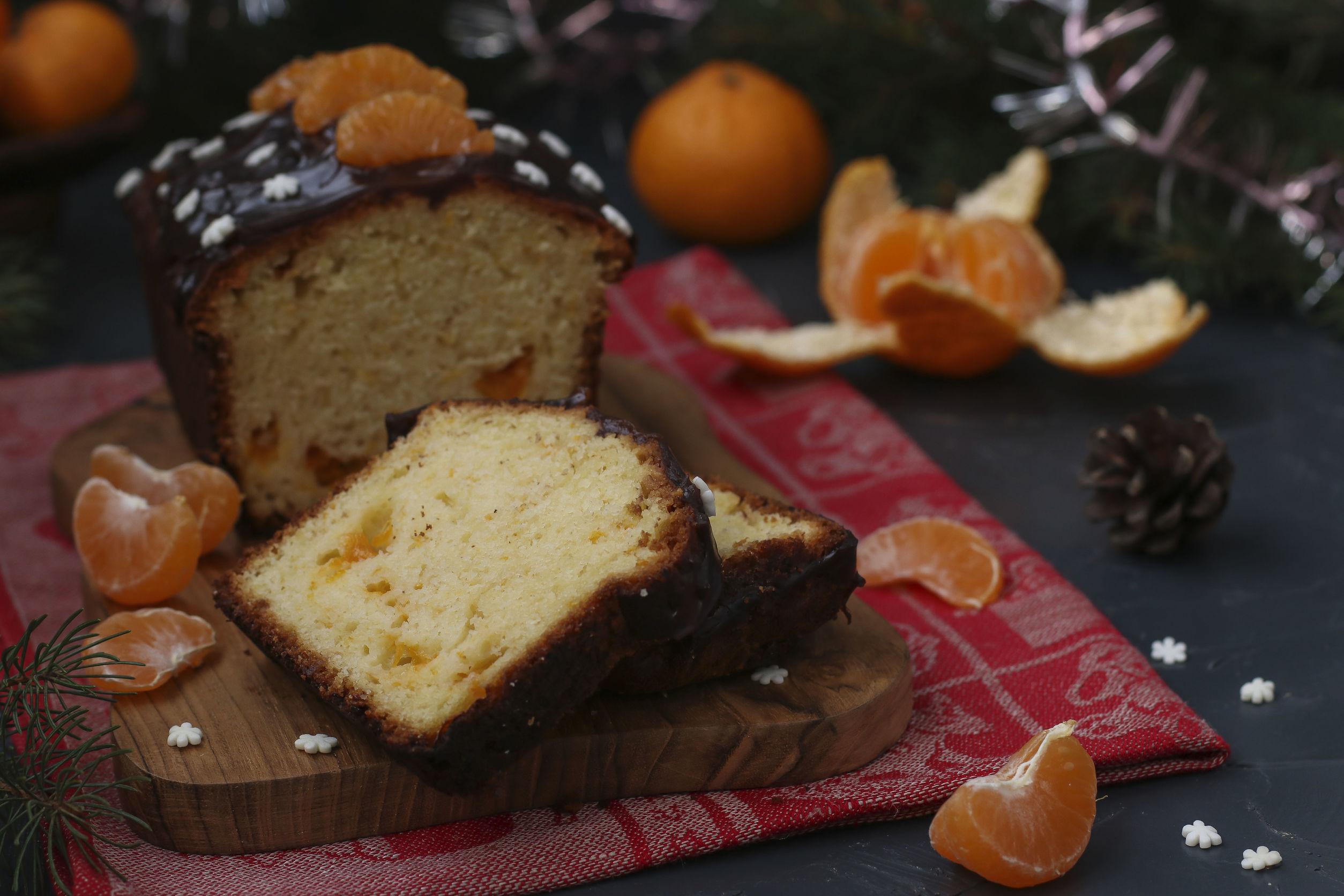 Классический кекс с мандаринами