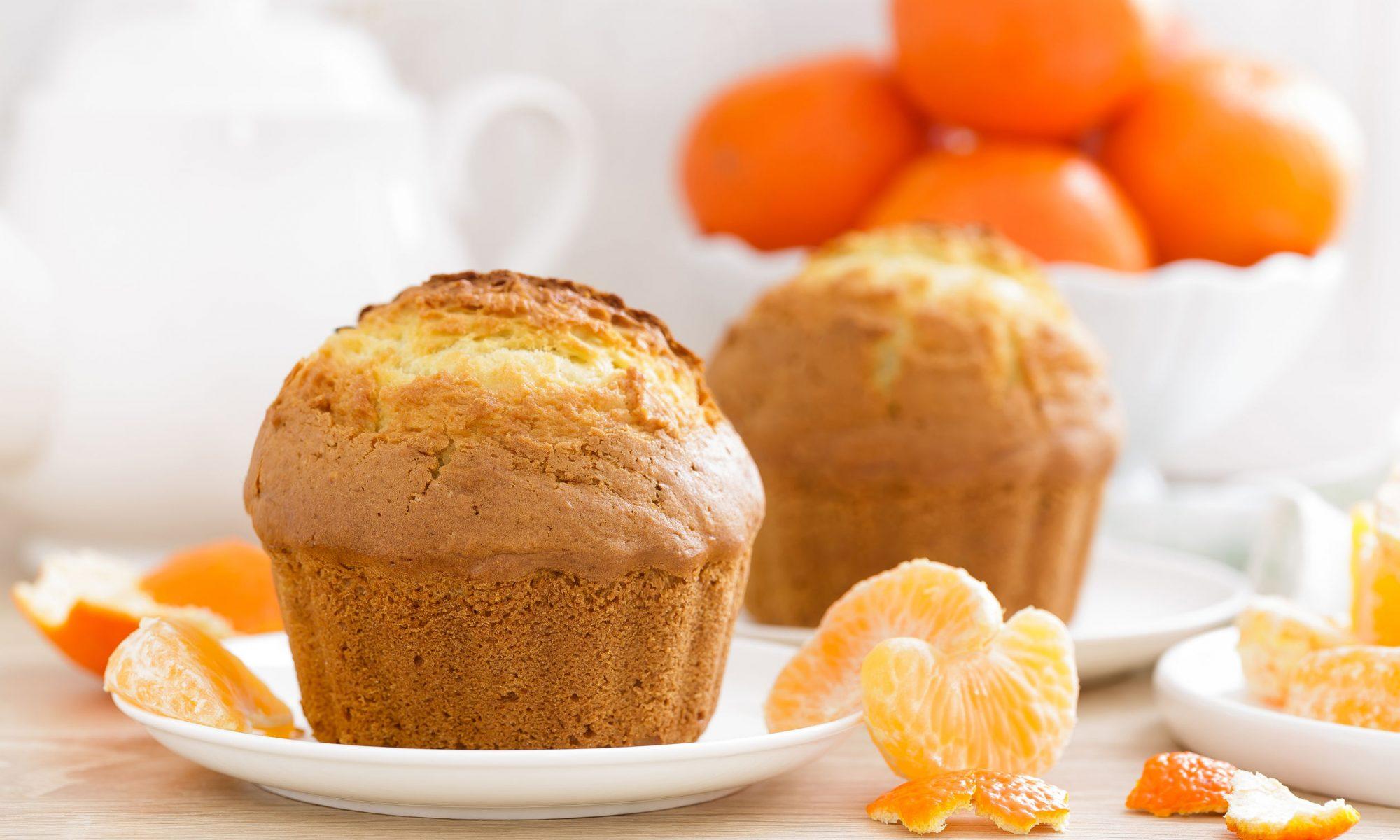 Воздушный мандариновый кекс с кефиром