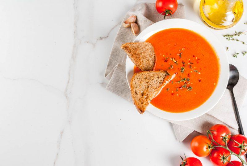 Постный суп-пюре из красной фасоли