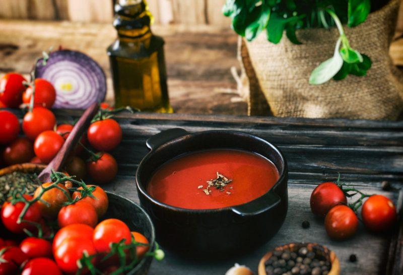 Постный томатно-фасолевый суп