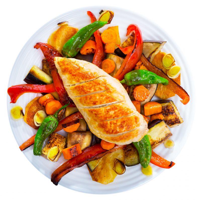 Быстрый микс овощей и куриной грудки