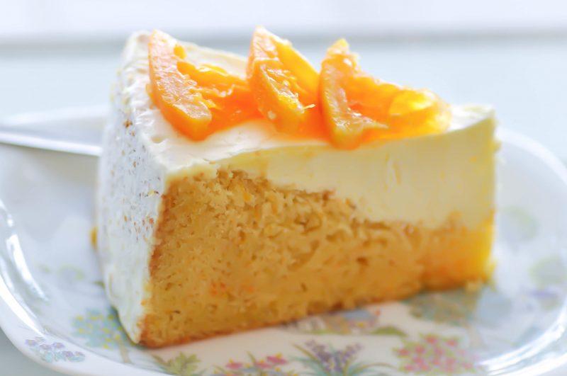 Апельсиновый торт бисквитный