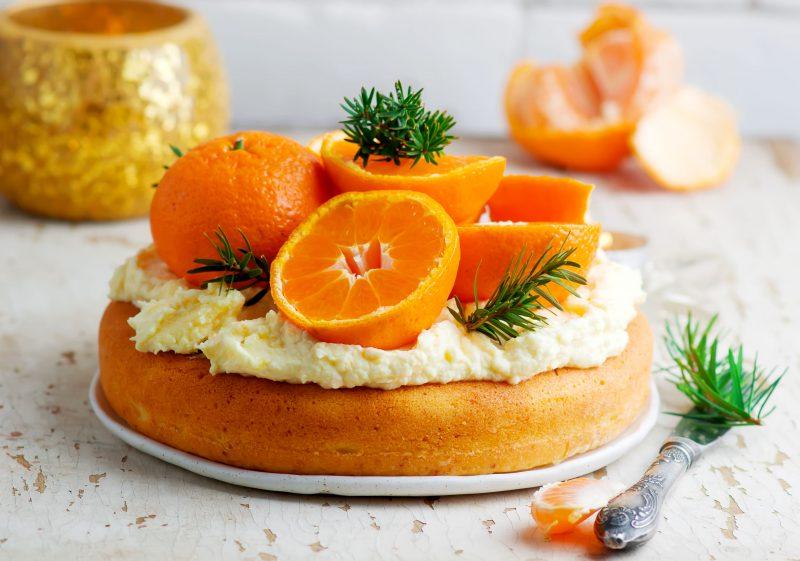 Апельсиновый вкусный торт