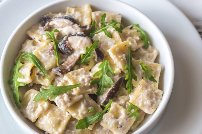 Рецепт сливочно-грибного соуса с добавлением вина