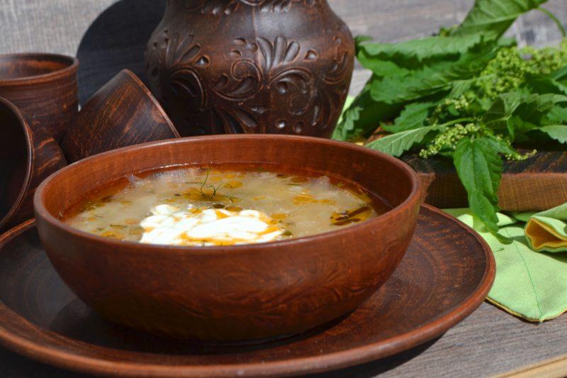 Постный зеленый борщ: рецепт с фото