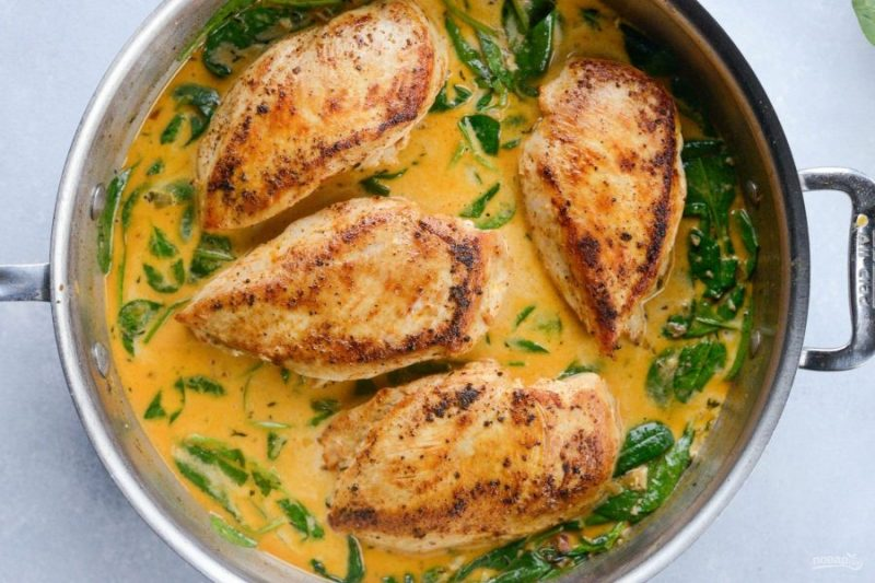 Куриные бедра в сливочно-лимонном соусе
