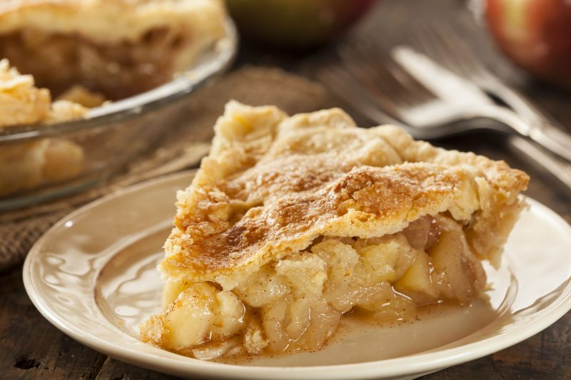 Насыпной пирог по-болгарски из яблок (на молоке)
