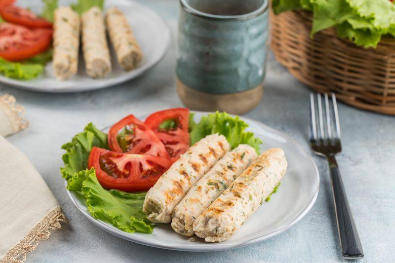 Домашние куриные сосиски рецепт с фото