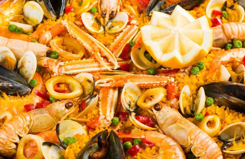 Паэлья де Марискос или с морепродуктами
