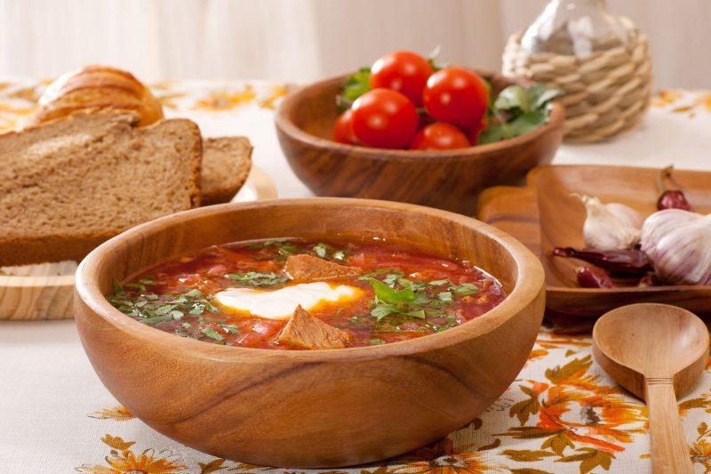 Борщ украинский аппетитный