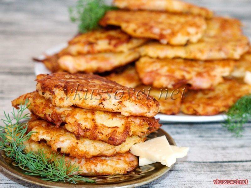 Запеченные драники картофельные с ветчиной: рецепт в духовке