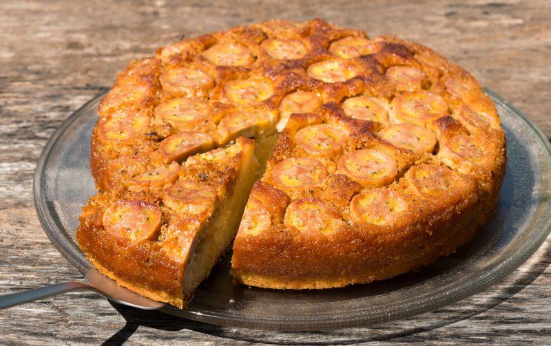 Ароматный банановый торт-пирог