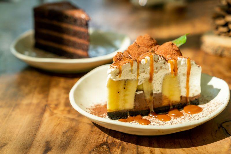 Полезный шоколадный торт с бананами