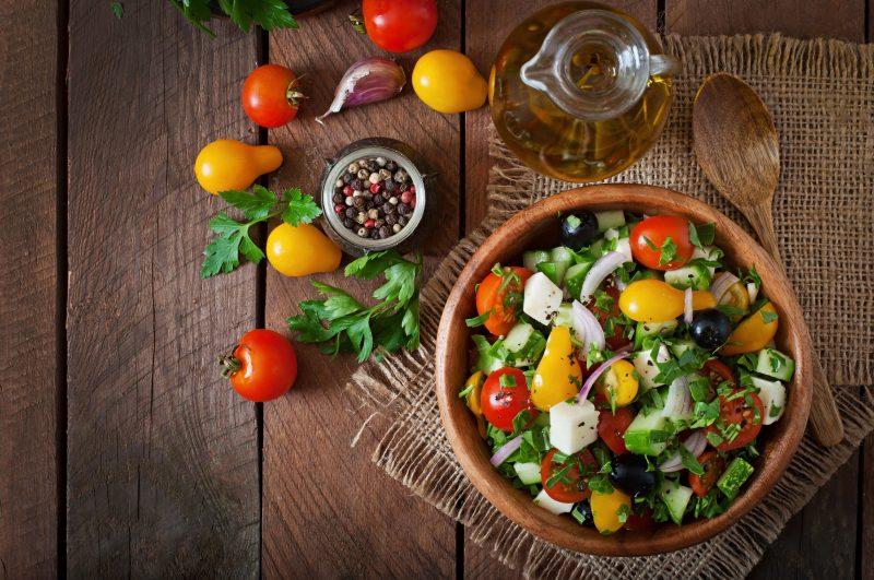 Вкусные салаты с перцем болгарским