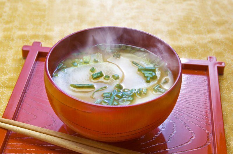 Мисо суп с измельченными овощами