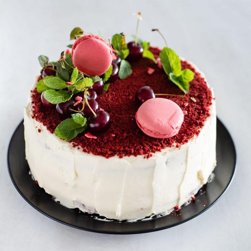 Рецепт коржей для торта Красный бархат на растительном масле