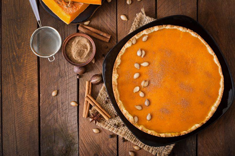 Вкусный пирог с тыквой и сливками